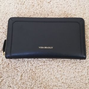 Vera Bradley Black Zippy Wallet